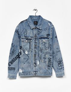 Custom Clothes, Diy Clothes, Denim Fashion, Fashion Outfits, Painted Denim Jacket, Painted Clothes, Mode Inspiration, Ideias Fashion, Cool Outfits
