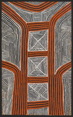 Kaapa Mbitjana Tjampitjinpa ~ Corroboree and Body Decoration, 1972 Aboriginal Artwork, Aboriginal Artists, Indigenous Australian Art, Indigenous Art, Earth Pigments, Desert Art, Textile Prints, Textiles, Textile Art