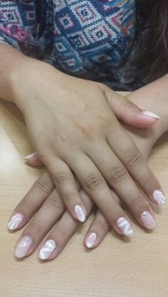 Cute nails design white