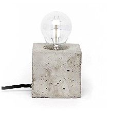#Concrete #lamp #design #cube #bulb