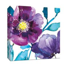Shop for Picture It on Canvas 'Royal Blooms II' Gallery-wrapped Canvas Wall Art. Get free delivery On EVERYTHING* Overstock - Your Online Art Gallery Store! Painting Frames, Painting Prints, Watercolor Flowers, Watercolor Paintings, Poppies Painting, Watercolours, Canvas Art Prints, Canvas Wall Art, Canvas Canvas