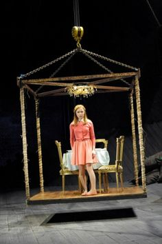 Emily Taaffe as Luciana in The Comedy of Errors. Photograph by Keith Pattison (Design for the birdcage anyway)