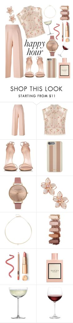 """think pink drinks"" by heyfoghorn ❤ liked on Polyvore featuring Fendi, Needle & Thread, Stuart Weitzman, Michael Kors, Olivia Burton, NAKAMOL, ZoÃ« Chicco, Gucci, Crate and Barrel and Nordstrom"
