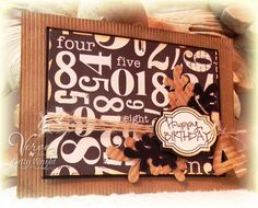 Birthday card by Betty Wright using Verve Stamps.