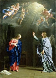 The Annunciation 1644 Painting