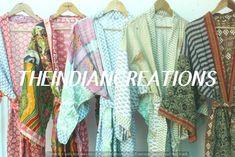 SALE ! KIM+ONO Collection - Gifts for Brides, Bridesmaid robes, Birthdays + Anniversary Gift Kimono Robe Pure cotton robes Cotton sari robe Cotton Kimono, Indian Fashion, Womens Fashion, Long Kimono, Antique Clothing, Bride Gifts, Nightwear, Wedding Styles, Beachwear