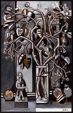 David Bates, cottonwood branches