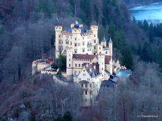 Hohenschwangau Castle in Schwangau, Germany Saxony Anhalt, Rhineland Palatinate, Lower Saxony, North Rhine Westphalia, Neuschwanstein Castle, Holidays 2017, Bavaria, Castles, Travel Destinations
