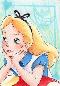 Alice in Wonderland ACEO Art Card