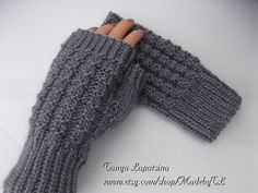 Cozy Fingerless Mittens by MadebyTL on Etsy.