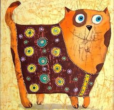 From the Life of tabby. Stick Figure Animation, Son Chat, Cat Character, Cat Quilt, Happy Paintings, Cat Colors, Arte Pop, Cat Drawing, Whimsical Art