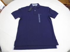 Mens Tommy Hilfiger Polo shirt L solid NEW 7845143 Parachute Purple 511 grape #TommyHilfiger #polo