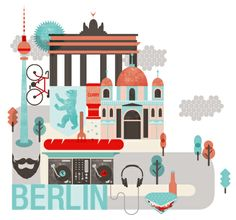 Berlin illustration - Dein Sommertrip 2014 - Berlin - DaWanda