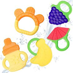 Baby Teething Toys - BPA Free Natural Organic Freezer Saf…