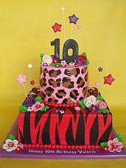 Yo Daughter Turning 10 Safari Birthday Cakes Girls Party Games Unique