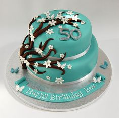 flower birthday cakes women | ... so easily have two? The 2-tiered Flower Spray Cake – from £75