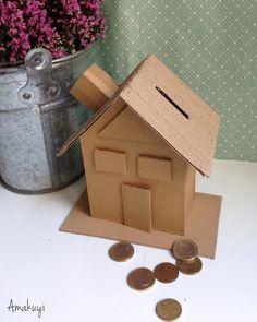 huga de cartón para enseñar a los niños ahorrar : via MIBLOG