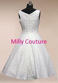 Mariage robe des années 50 dentelle robe de thé par MillyCouture