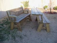 Patio Bench That Converts To A Picnic Table. I Need On Of These.