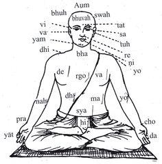 """Gayatri Mantra y sus efectos sobre el cuerpo.- """"El Gayatri Mantra se dice que es el más antiguo y el más poderoso de los mantras, tiene miles de años de antigüedad. Purifica a la persona que canta y al oyente. --Significa """"Que todos los seres de la tierra alcancen la iluminación"""". El significado de las palabras en sánscrito no es tan importante como el efecto que las vibraciones de las palabras tienen en el cuerpo y centros de energías""""- Deva Premal"""