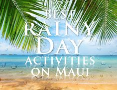 Don't let the rain get you down! Best rainy day activities on #Maui!