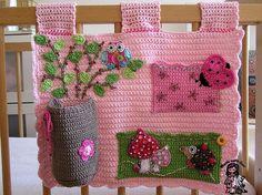 Baby girl wallpocket organizer pdf pattern van VendulkaM op Etsy