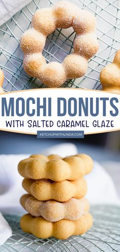 This is the best mochi donuts ever! Grace your taste buds with this easy and with gluten-free version mochi donut recipe. These perfectly made pon de rings has a light salted caramel glaze that's very tempting. Make yours now! Mochi Donuts Recipe, Homemade Doughnut Recipe, Donut Recipes, Snack Recipes, Dessert Recipes, Dessert Ideas, Winter Desserts, Fun Desserts, Delicious Donuts