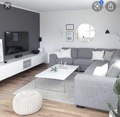 Elegant Living Room, Living Room White, White Rooms, New Living Room, Living Room Modern, Cozy Living, Small Living Room Designs, Living Room Ideas Modern Contemporary, Budget Living Rooms