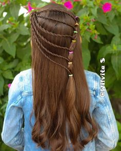 ❤🌟 MIÉRCOLES DE VIDEO❤🌟 📹LES DEJO EL LINK DEL VIDEO EN MI PERFIL ❤ NO OLVIDEN MANDAR SUS FOTITOS 📸… Baby Girl Hairstyles, Pretty Hairstyles, Unique Hair Cuts, Hair Dos For Kids, Eva Hair, Middle Hair, Girl Hair Dos, Hair Junkie, Gorgeous Hair