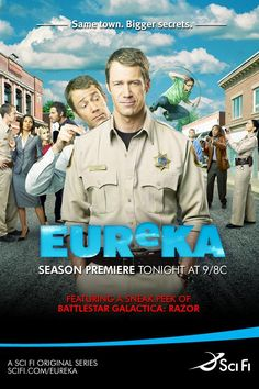 A quirky favorite that managed not to get cancelled for five seasons. I can't get enough of Eureka!