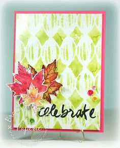 ePlay Challenge: Fall Leaves using alcohol inks #eclecticPaperie