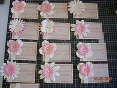 PNM name tag ideas: scrapbooking paper  flowers are good materials to work with. tags need to be sturdy enough to last all week.