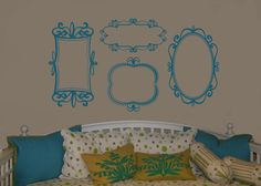 Shabby Chic Frame Collection- Vinyl Wall Art Decal Home Decor Stickers Graphic Design. $40.00, via Etsy.