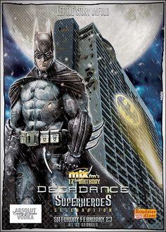 Decadance Superheroes Edition: Batman in Beirut  Poster Design by Kaleido