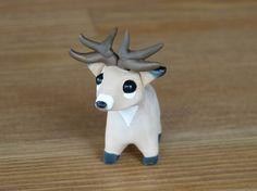 Tiny deer buck  Handmade miniature polymer clay by AnimalitoClay, $18.00