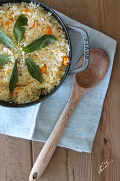 This easy butternut squash risotto recipe is fast & filling! Aged cheddar makes this dish stand above others!