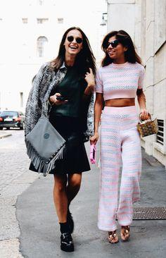 Street style during Milan Fashion Week