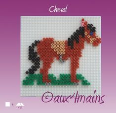 Horse hama perler by aux4mains