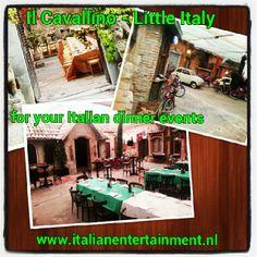 Il Cavallino - Little Italy -for your Italian dinner events Little Italy, Good Things, Events, Dinner, Outdoor Decor, Home Decor, Dining, Decoration Home, Room Decor