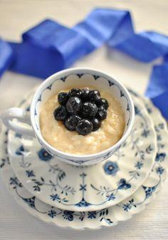 Scandi Home: Milk Rice Pudding Creamiest Rice Pudding Recipe, Rice Pudding Recipes, Creamy Rice Pudding, Custard Pudding, Pudding Cake, Easy Delicious Recipes, Yummy Food, Savory Rice, Norwegian Food