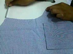 Como Confeccionar Una Camisa Parte 9 (pegar bolsillo) - YouTube