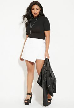 Shop Women's Forever 21 White size 18 Skorts at a discounted price at Poshmark. Description: Forever 21 D-ring skort. Short Dresses, Dresses For Work, Forever 21 Plus, Plus Size Shorts, All About Fashion, Festival Outfits, Fashion Design, Fashion Tips, Fashion Trends