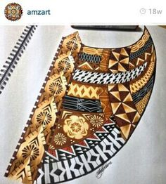 Go follow #amazart on Instagram if you have a love for Fijian tribal prints.