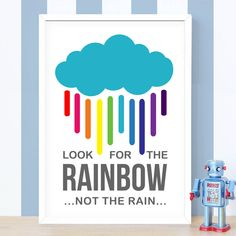Remind yourself to always look on the bright side! #MotivationalQuote #Rainbow