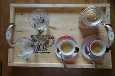 Coffe tray made of pine wood. Pine, Tray, Coffee, Tableware, Wood, Kitchen, Decor, Pine Tree, Kaffee
