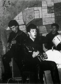 """1961. The Beatles with Pete Best on drums at The Cavern Club. The Beatles made a total of 292 appearances at the club between February 1961 and August 1962. The last performance was on August 3, 1963, a month after they recorded """"She Loves You"""". At the time, The Beatles manager Brian Epstein promised the club's owners that the Beatles would return someday, but it was a promise that was never fulfilled. #Beatles #1961 #CavernClub"""