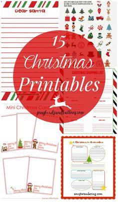 15 Christmas Printables to help get those holiday lists going!
