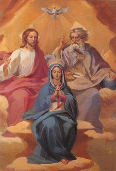God the Father Son and Holy Spirit | TheMost Holy Trinity, Father, Son, and Holy Spirit, and Our Blessed ...
