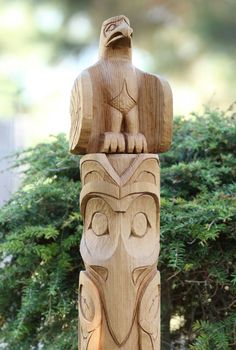 Hand-Carved Native American Totem Pole by MKWoodcarving on Etsy