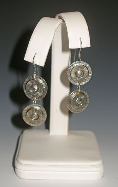 Annie Oakley recycled Bullet earrings $65.00, pretty awesome